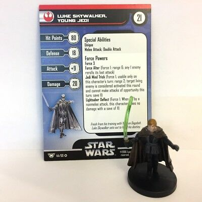 Star Wars Champions of the Force #44 Luke Skywalker, Young Jedi (VR) Miniature