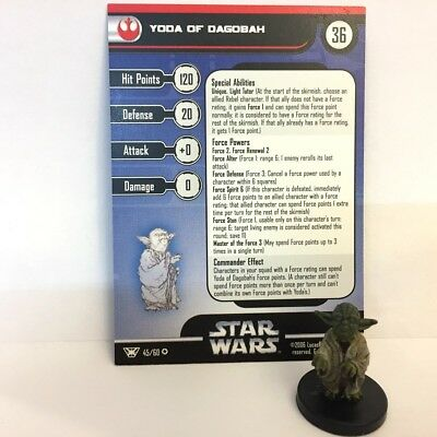 Star Wars Champions of the Force #45 Yoda of Dagobah (VR) Miniature