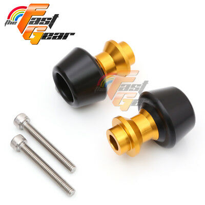 Gold CNC Swingarm Spools Sliders Set Fit Kawasaki ZX-10R Ninja 2011-2015