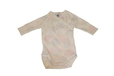 Sanetta Baby Bodysuits Organic Cotton Flowers White Long Sleeve NEW