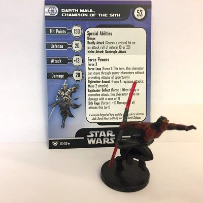 Star Wars Champions of the Force #40 Darth Maul, Champion of the Sith (R) Miniat
