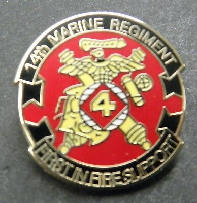Us Marine Corps 14Th Marines Regiment Lapel Pin Badge 1 Inch Usmc