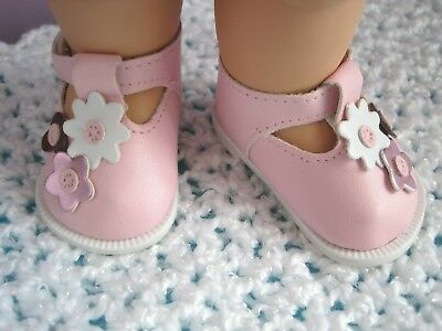 Cute T-Strap SHOES for 13 in. Galoob Baby Face Dolls- Pink - New in Package