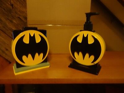 Batman -Toothbrush Holder & Lotion Holder With Hand Wash Pump / Bathroom Access.