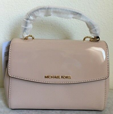 87a983dcf6cf NWT!! MICHAEL KORS Ava Extra Small Leather Crossbody Bag in Ballet pink $178