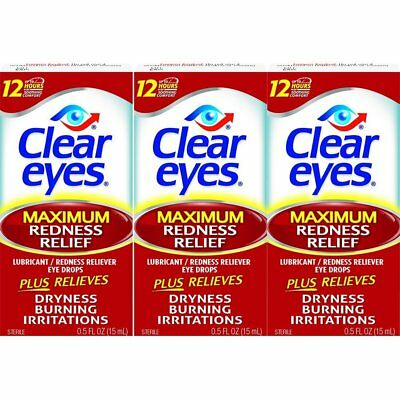 Clear Eyes Maximum Redness Relief Eye Drops-Also Relieves Drying, Burning &...
