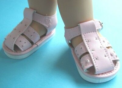 Cute pink Fisherman SANDALS for 13 in. Galoob Baby Face Dolls - New in Package