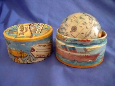 Traveler's World Globe In A Box  Paper Mache Globe Time Zones & Facts