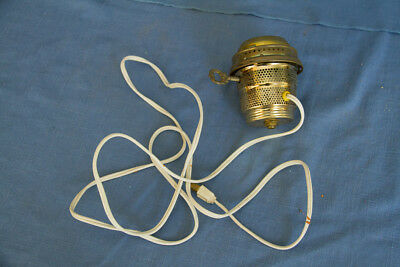 Aladdin Brass Finish Electric Conversion Burner for Aladdin Kerosene Lamp