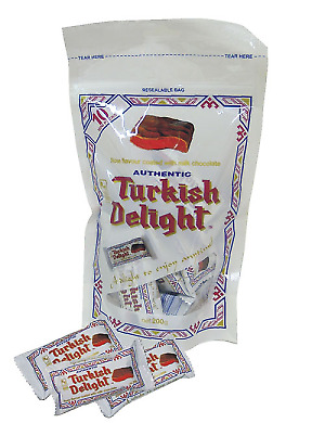 Turkish Delight - Bag - Rose Flavour coated in Milk Chocolate (20g x 10pc - n...