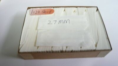 (36Boxes) 27mm Skinny Vellum Glassine White Stamp Wax 600 Paper Bags
