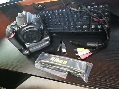 Nikon D5500 24.2 MP Digital SLR Camera - Body With Battery Grip