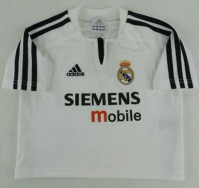 771e9036d Vintage Adidas 2003-2004 Real Madrid F.C Soccer Jersey Size Toddler 4T