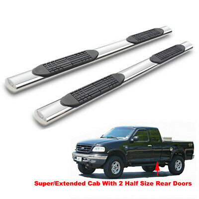 Standard Topline Autopart 3 Matte Black Side Step Nerf Bars Rail Running Boards For 97-03 Ford F150 Cab 97-99 F250 Light Duty Regular 2004 Heritage