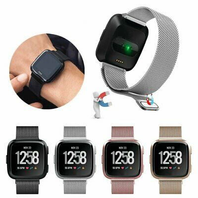 For Fitbit Versa & Versa Lite Magnetic Milanese Stainless Watch Band Wrist Strap
