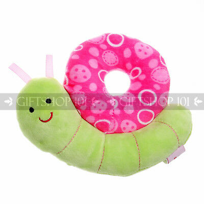 "5"" Cute Stuffed Snail Soft Rattle Ring For Baby Child Ultra Plush Toy - Pink"