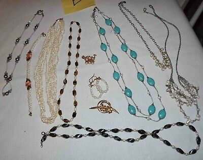 Huge Lot E Of Genuine Pearl Jewelry, Necklaces, Earrings, & More *lqqk*