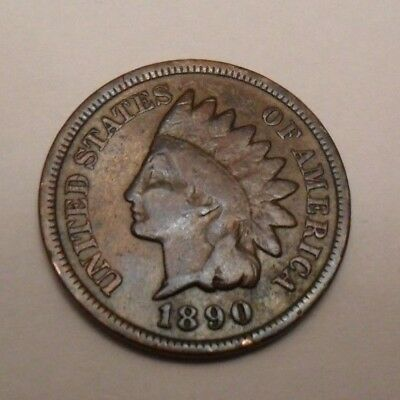 1890 P Indian Head Cent Penny  *AG OR BETTER*  **FREE SHIPPING**