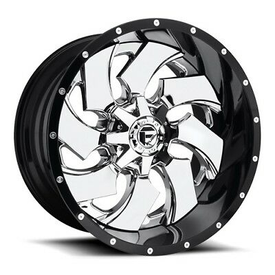 22x12 Fuel D240 Cleaver Chrome Wheels 8x6.5 (-44mm) Set of 4