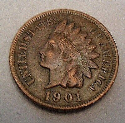 1901 P Indian Head Cent / Penny  *AG OR BETTER*  **FREE SHIPPING**