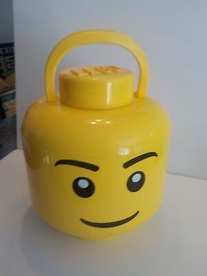 Lego Head Sort and Store Storage Container Yellow Minifig Face Large Organizer & LEGO HEAD SORT and Store Storage Container Yellow Minifig Face Large ...
