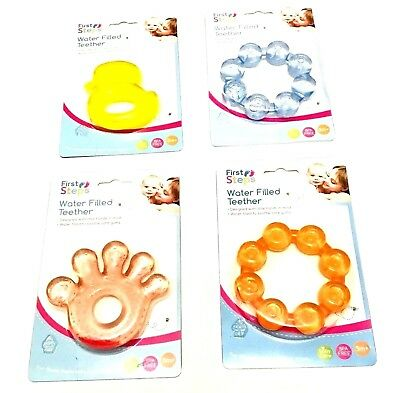 FIRST STEPS Baby Teether Fun Ice Gel Chewy Chill Toy  BPA Free VARIOUS