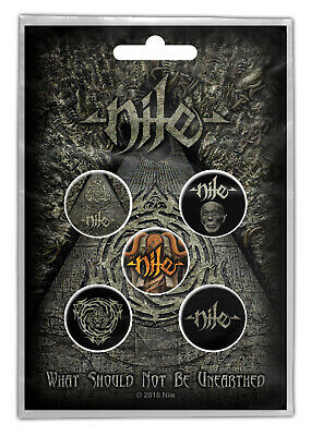 Nile What Should Not Be Unearthed Button Set Badge Pack Metal Badges Official