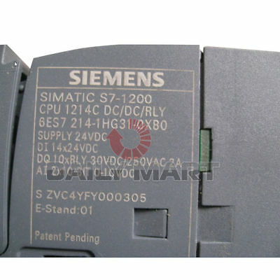 Brand New Siemens 6ES7 214-1HG31-0XB0 I/O Compact CPU Relay Onboard POWER SUPPLY