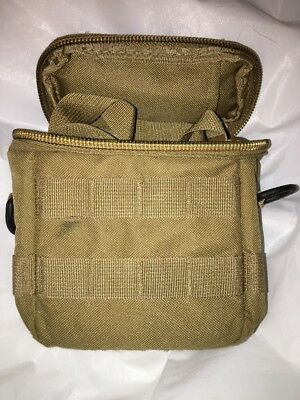 MOLLE Soft Padded Pouch, 5 x 6 *** Coyote (possible Monocular Night Vision use)