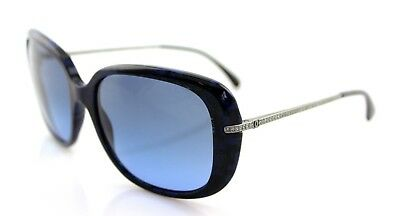 a55067c46b RARE New Authentic CHANEL Blue Black Glitter Sunglasses CH 5292-B c. 1487