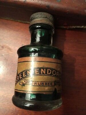 Old bottle of ink - Green endorsing for rubber stamps - Henry C Stephens Ltd