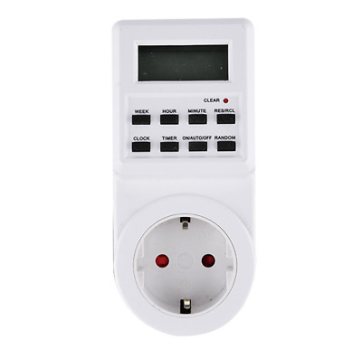 Timer Switch Socket Digital LCD Power Energy-saving Plug-in EU Socket 230V 16A