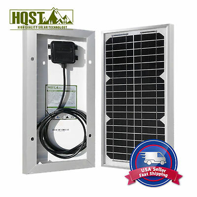 10W 12V Mono Solar Panel Off Grid Portable PV Power Camping Backpacking