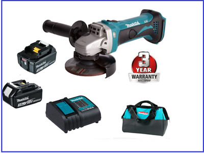 Makita 18V LXT Li-Ion Cordless ANGLE GRINDER KIT AU STOCK 3 YEARS WARRANTY