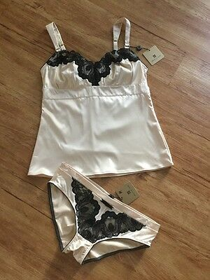 BNWT Sexy Ivory PLEASURE STATE 2 Piece Cami / Pants -size 10-12