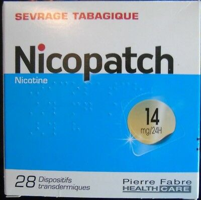 Nicopatch 14 mg / 24h substitut nicotinique  28 patchs Arrêt tabac