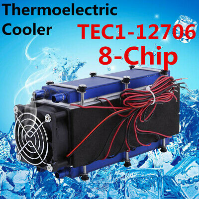 12V 576W DIY Thermoelectric Cooler Radiator Air Cooling Device 8-Chip TEC1-12706