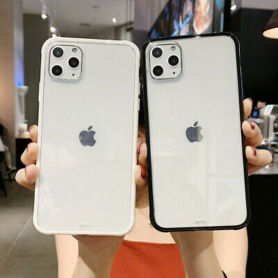 For iPhone X 8 7 6 6s Shockproof Hybrid Rugged Bumper Clear Hard Back Cover Case