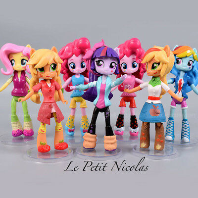 My Little Pony Equestria Girls lot de 7 Figurines jouet d'enfant décor