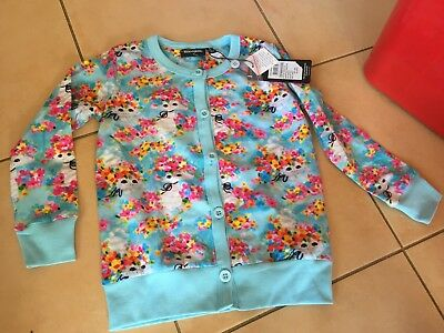 Rock Your Baby Year Of The Cat Cardigan Sz 5 Bnwt Rrp $