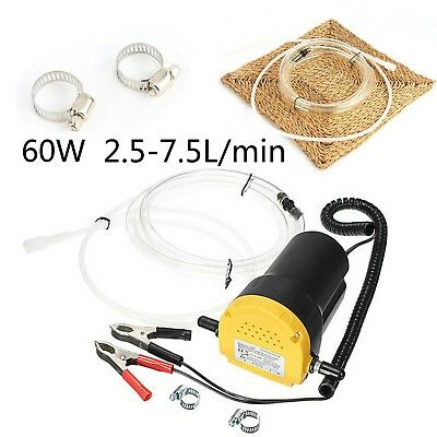 Portable Car Transfer Pump Extractor Oil Fluid Diesel Electric Motorbike Siphon