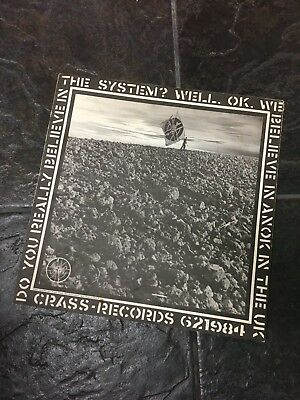 Crass Record LP cover (cover only) Feeding the 5000