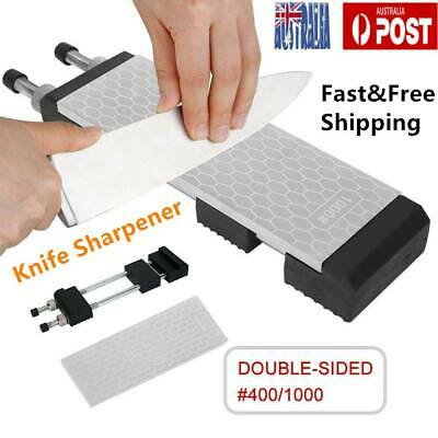 400/1000 Grit Double Sided Diamond Whetstone Sharpening Stone & Sharpener Holder