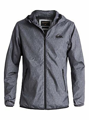 Quiksilver™ Everyday - Water-Repellent Hooded Windbreaker - Men - XXL - Black