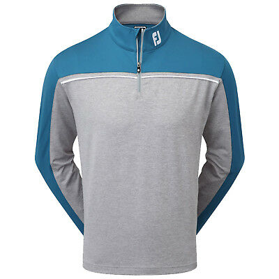 FootJoy Mens Chest Piped Chill-Out Golf Pullover - New 1/2 Sweater Top Jumper