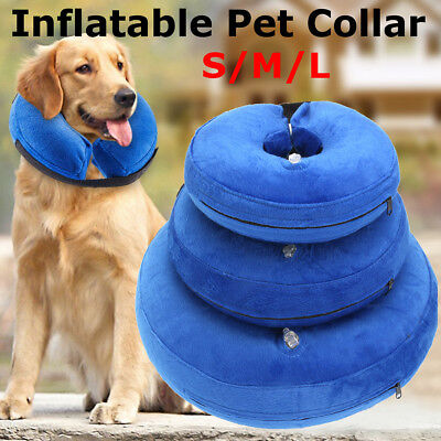 Protective Inflatable E-Collar For Pet Dogs Cats Soft Recovery Adjustable S M L