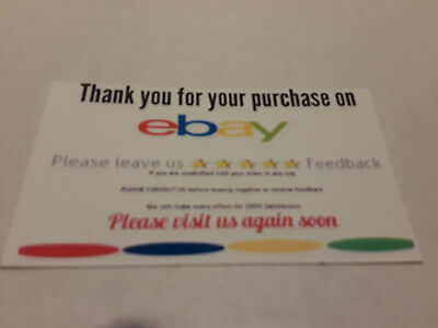 ebay Seller THANK YOU Business Cards 5 Five Star Feedback 100 Business Cards