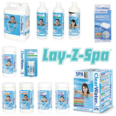 Clear Water Lay-Z-Spa Swimming Pool Hot Tub Chemicals Accessories Starter Kits