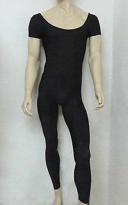 Men's  ballet dance wear cotton short sleeved unitard