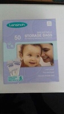 Lansinoh Breast Milk Storage Bags - 50-Count